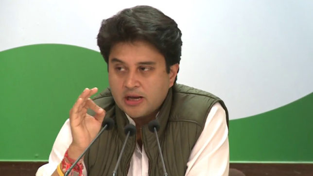 Jyotiraditya Scindia hits out at government over farmers' issues