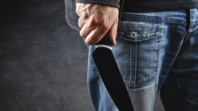 Boss arrested after assaulting employee with knife