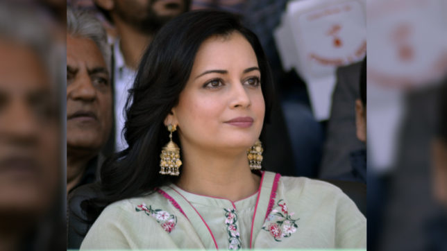 Dia Mirza feted with Valerian of Environmental Issues