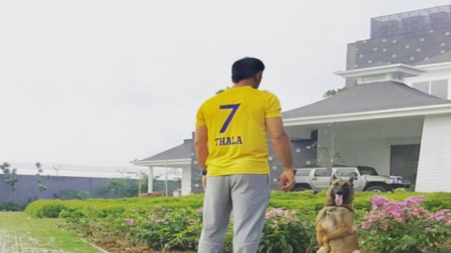 MS Dhoni celebrates Chennai's return to the IPL with a post on Instagram