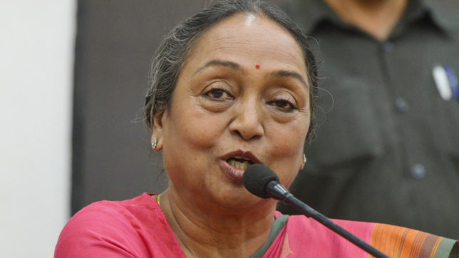 My fight is against Manuwadi ideology, says Meira Kumar