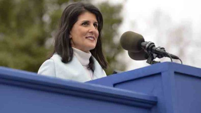 Nikki Haley will be attending business forum at IIFA 2017