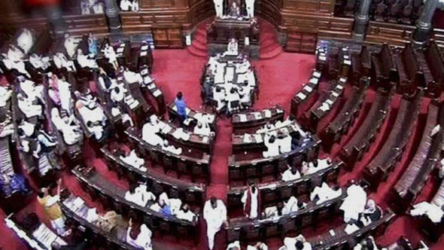 Rajya Sabha repeatedly adjourned over defection of Congress MLAs