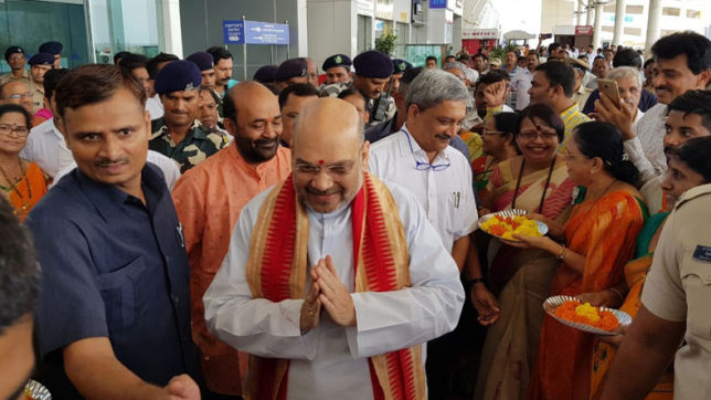 No permission granted for Amit Shah meeting: Goa airport official