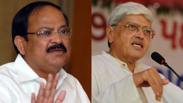 Vice president elections: M Venkaiah Naidu and opposition candidate G.K.Gandhi to file nomination papers today
