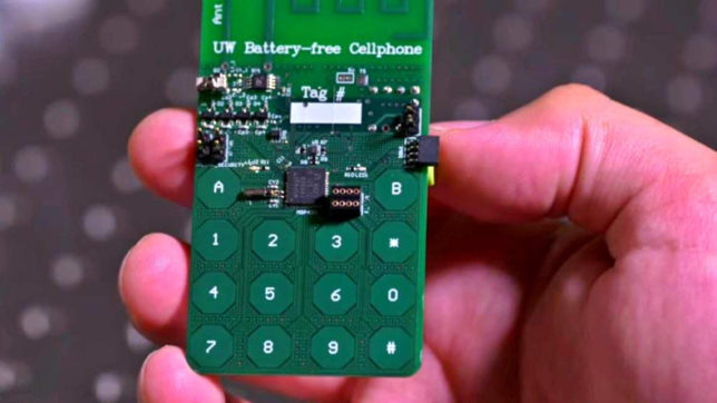 US researchers level their game up by inventing first battery-free cellphone