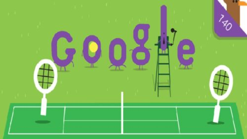 Google Doodle marks 140th anniversary of Wimbledon