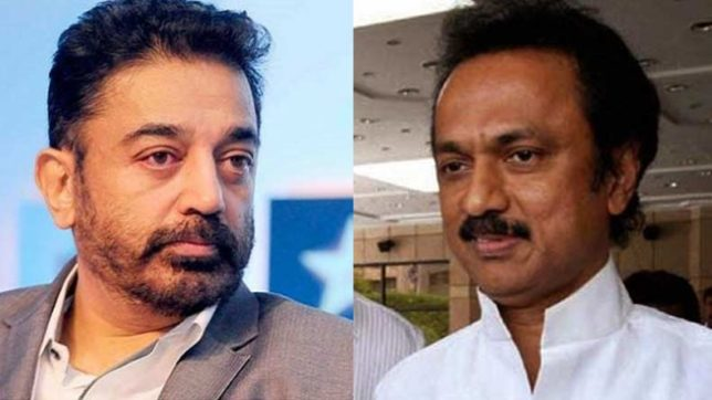 DMK leader MK Stalin comes to support of Kamal Haasan