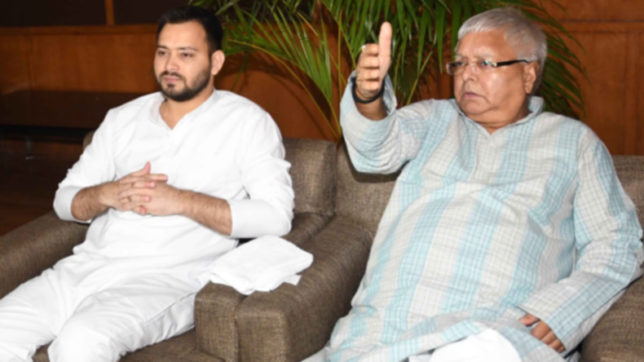Tejashwi won't quit, Nitish Kumar did not ask for his resignation, says Lalu Prasad Yadav