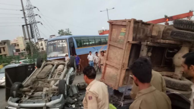 NH-24 collision: Truck rams into car; 6 dead, 3 injured