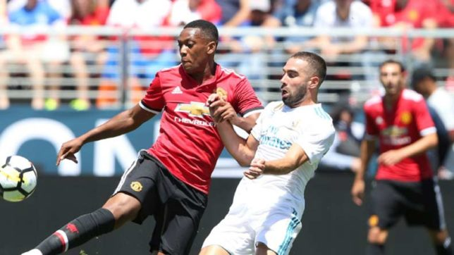Manchester United beat Real Madrid 2-1 on penalties in their pre-season clash