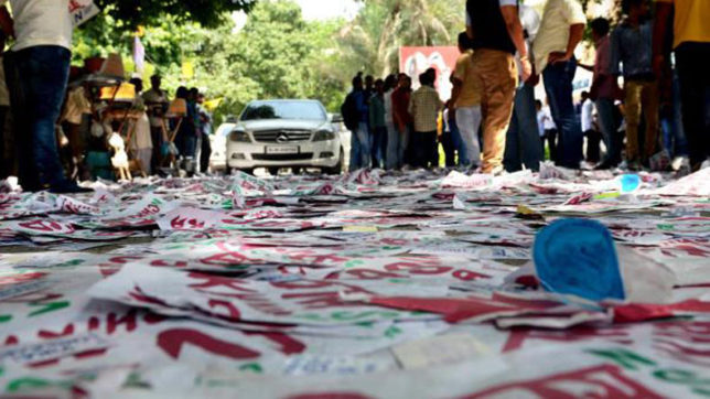 Delhi University campus already littered with campaign posters