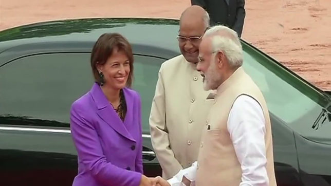 President of the Swiss Confederation Doris Leuthard receives ceremonial welcome