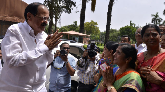 Vice Presidential election: Majority of parties support my candidature, says Naidu