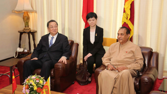 China pitches for better ties with Sri Lanka