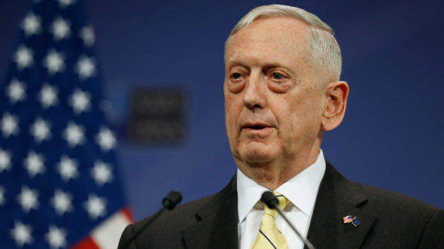 Transgenders can stay in US military for now: Defence Secretary jim Mattis