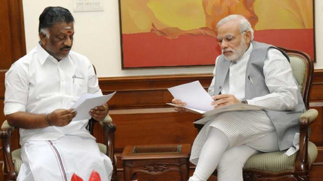 Panneerselvam meets PM Modi over possibility of AIADMK merger