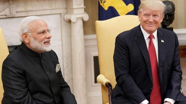 US President Donald Trump greets India on Independence Day