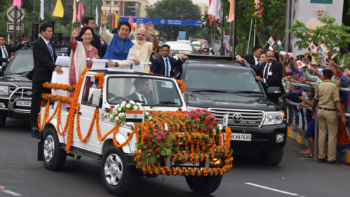 Japanese Prime Minister Shinzo Abe in India- Bullet train foundation ceremony, road show in pictures