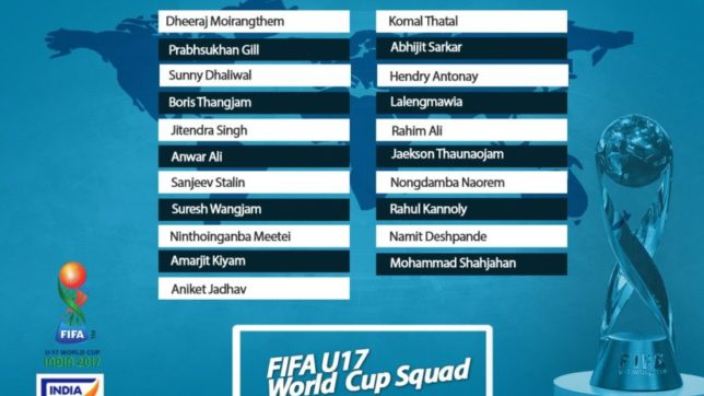 India announce 21-man squad for FIFA U-17 World Cup