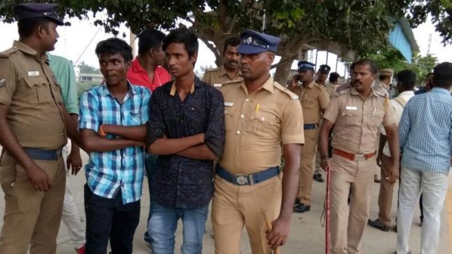 4 college students arrested for playing with sickles, knives on Chennai train
