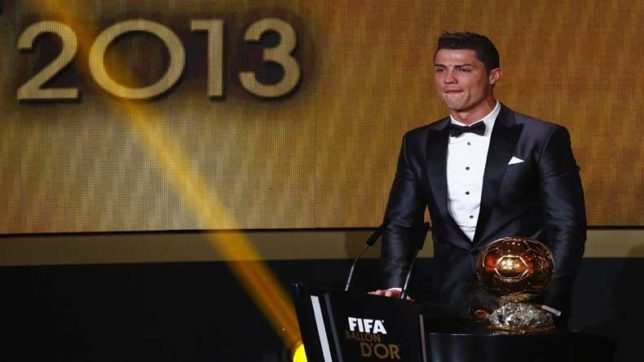 Here is why Cristiano Ronaldo auctioned his 2013 Ballon d'Or trophy