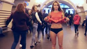 Watch: Protesting against 'upskirting', Russian student lifts skirt to flash undergarments