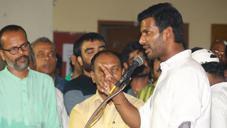 Actor and Tamil Film Producers Council president Vishal slams film financiers