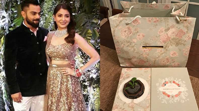 Anushka sharma virat kohlis eco friendly sapling wedding invitation anushka sharma virat kohlis eco friendly sapling wedding invitation card creating ripples on social media stopboris Gallery