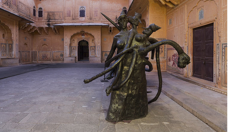 nahargarh fort jaipur, pink city fort, nahargarh fort for contemporary art, rajasthan chief minister, destination for major art exhibitions, rajasthan tourism, contemporary art in rajasthan, nahargarh heritage site