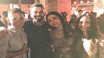 The two fantastic captains met at Virat-Anushka's reception | Photo - Instagram |