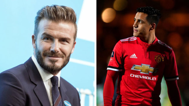 David Beckham Was Astonished To See Alexis Sanchez Swap Arsenal For Manchester United