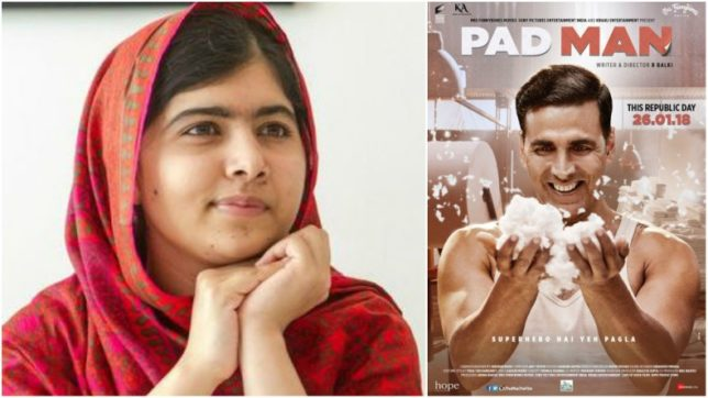 Noble prize winner Malala Yousafzai believes that message behind Akshay Kumar's 'PadMan' is truly inspiring