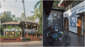 If you're in Goa and looking to drop by and want to get a taste of what happens when hospitality meets pure motorcycling, (the Royal Enfield way) then the Garage Cafe is the place to be!