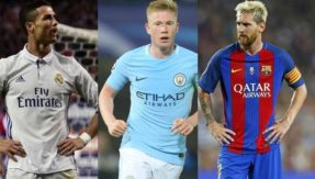 UEFA Team of the year 2017: Cristiano Ronaldo, Lionel Messi, Eden Hazard and Kevin De Bruyne all find a place