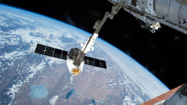 NASA's cargo spacecraft back down to earth with heavy payload