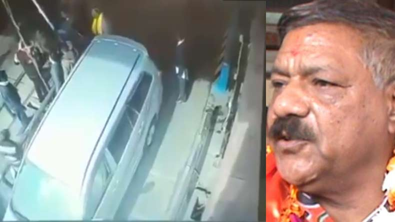 Pooran Prakash,UP toll plaza,BJP MLA son, mathura, BJP legislator, BJP legislator sion thrahses toll plaza, toll employee thrashed, Yogi adityanath, UP Cm Adityanath, breaking news, mathura news, BJP news, top news, latest news