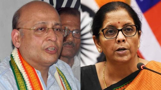PNB scam: Congress leader threatens Nirmala Sitharaman with defamation suit after her accusations against him, family