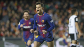 Copa del Rey: Phillipe Coutinho scores his first goal for Barcelona against Valencia