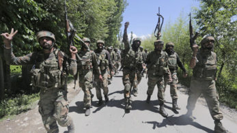 Indian Army gunned down two terrorists after an encounter broke out in Anantnag's Dooru area in Jammu and Kashmir