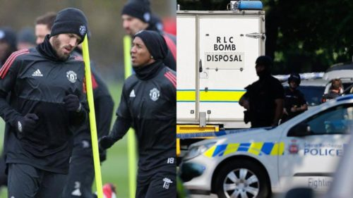 Bomb threat creates chaos in Manchester ahead of United's Champions League tie with Sevilla