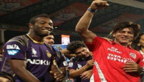 IPL 2018: Shah Rukh shakes a leg with andre russell and other KKR players on 'Chammak Chalo'; Watch Video