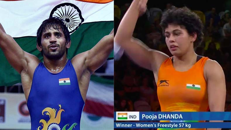 CWG-2018-Bajrang-Punia-clinches-gold-in-65kg-freestyle;-Pooja-Dhanda-wins-silver