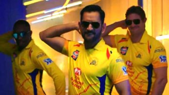 Dhoni slaying it in CSK's IPL 2018 anthem