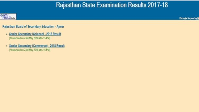 Rbse 12th science and commerce result 2018 results of rajasthan rbse 12th science and commerce result 2018 results of rajasthan board class 12 declared rajresultsc malvernweather Gallery