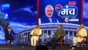 Speakers spar over alliances of the BJP and the Congress at India News Manch