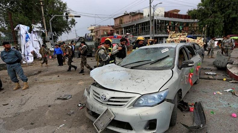 blast also damaged nearby shops and vehicles