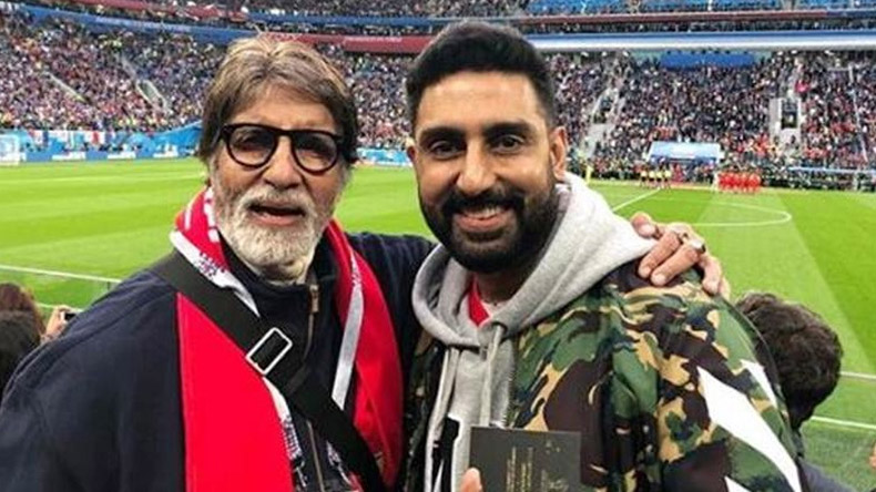 Amitabh-Abhishek spotted enjoying FIFA World Cup semi-final, check pics