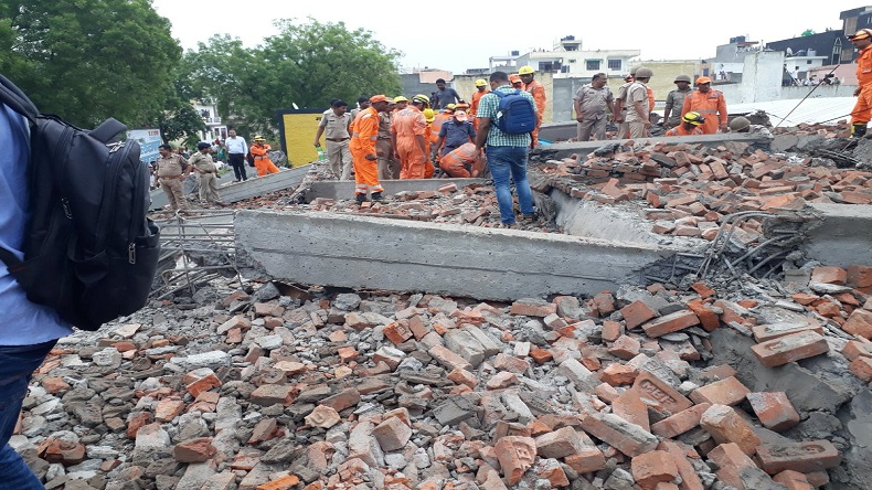 Ghaziabad: Under construction building collapses near Missal Gadi area, 4 injured