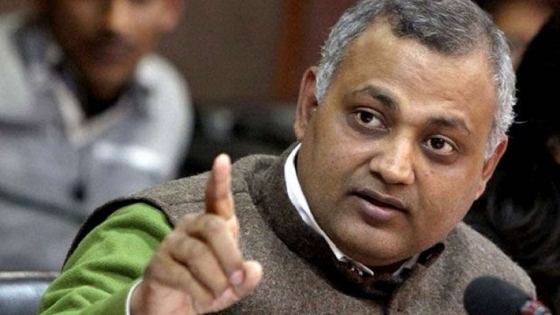 Somnath Bharti, Former Delhi law minister Somnath Bharti charges framed, Delhi patiala House Court, Khirkee raid case, Somnath raids Khirkee, Somnath Booked